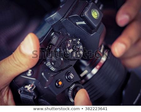 Câmera manual desenho foto verde quadro-negro Foto stock © stevanovicigor