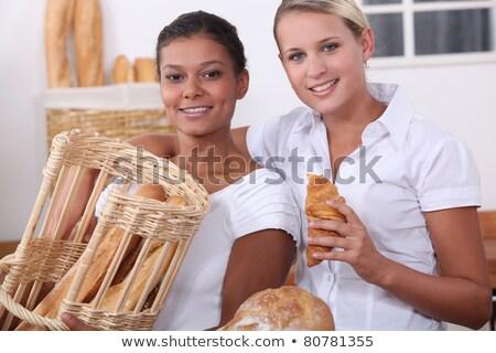 dwa · młodych · kobiet · pracy · piekarni · kobiet · pracy - zdjęcia stock © photography33