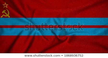 Soviético república sello bandera mapa papel Foto stock © perysty