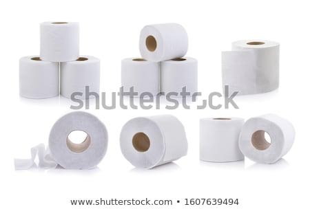 három · tekercsek · vécépapír · izolált · fehér · wc - stock fotó © stocksnapper