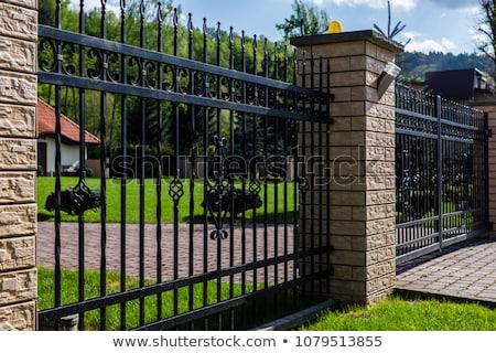 Autumn Fence Stock photo © RachelD32