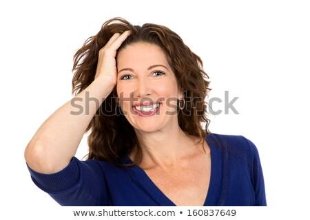 Vrouw veertigste business gezicht portret vrouwelijke Stockfoto © photography33
