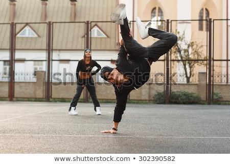 hip hop couple, man behind woman stock photo © feedough