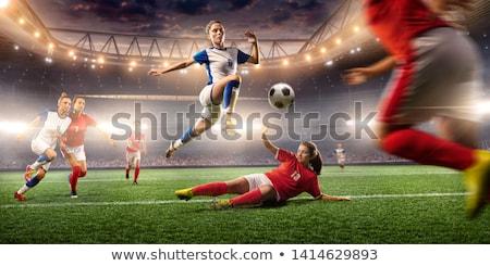 futballista · rúg · labda · férfi · sport · szín - stock fotó © smithore