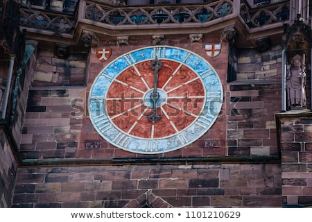 historic wall detail of the freiburg minster stock photo © prill