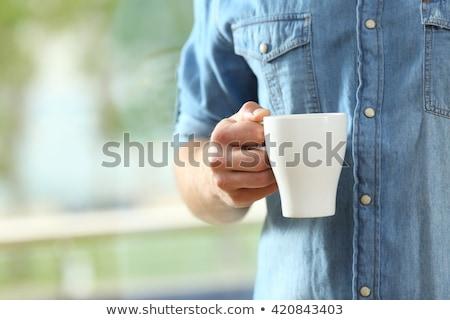 Homme espresso résumé détendre énergie Photo stock © photography33