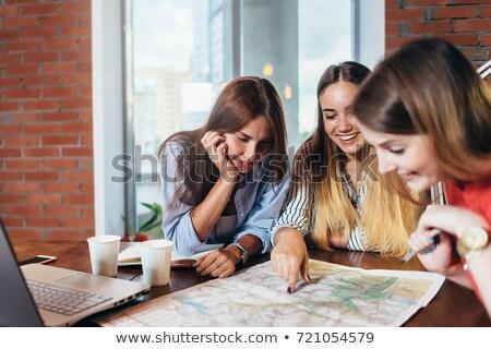 Tre Università geografia studenti studente mondo Foto d'archivio © photography33