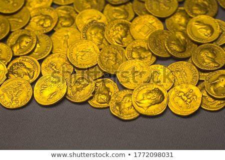 romana · moneda · detalle · macro · antigua · dinero - foto stock © ivelin