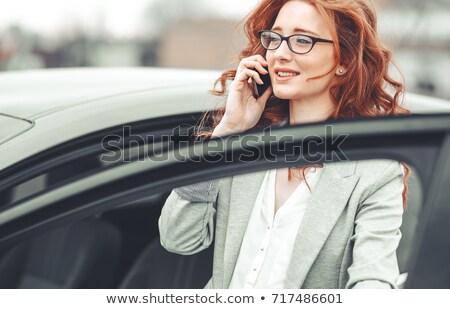 Olgun işkadını ayakta ajans kadın mutlu Stok fotoğraf © photography33
