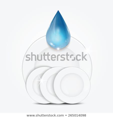 glassy bowl isolated on white background stock photo © ozaiachin