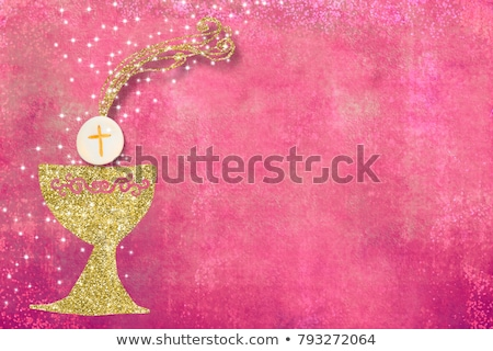 thank you card first communion girl Stock photo © marimorena