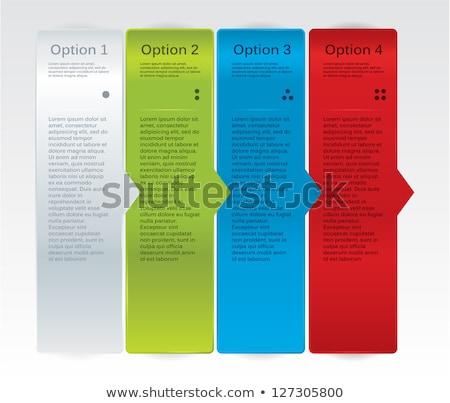 Vektor haladás kártyák üzlet valósághű papír Stock fotó © vitek38