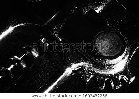 Korkociąg szczegół chrom odizolowany biały wina Zdjęcia stock © winterling