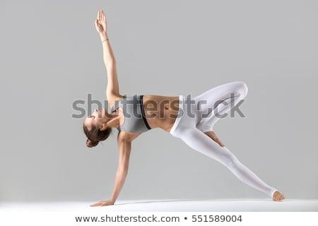 Kadın jimnastik pozisyon beyaz uygunluk yoga Stok fotoğraf © wavebreak_media