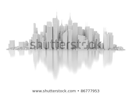 3d city skyline Stock photo © digitalgenetics