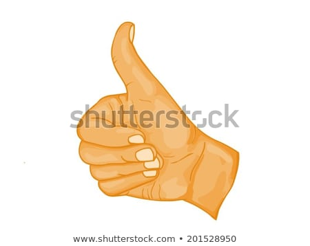 Cartoon Hand - Thums Up - Vector Illustration Stock photo © indiwarm