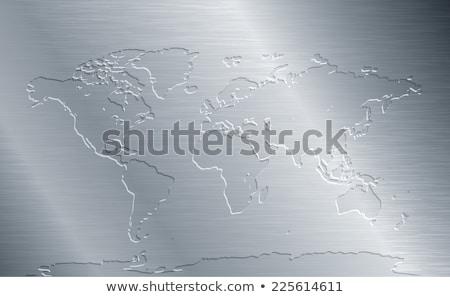 メタリック グローバル 地図 さびた 地球 マップ ストックフォト © Balefire9