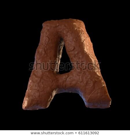 шоколадом · 3D · письма · слово · продовольствие · белый - Сток-фото © Florisvis
