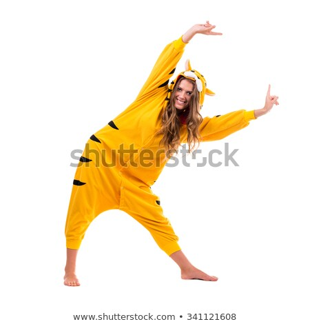Young woman in a dance costume on a white background full-length Stock photo © pzaxe