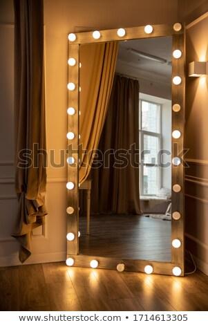 Oude verguld houten frames hout ontwerp Stockfoto © smuki
