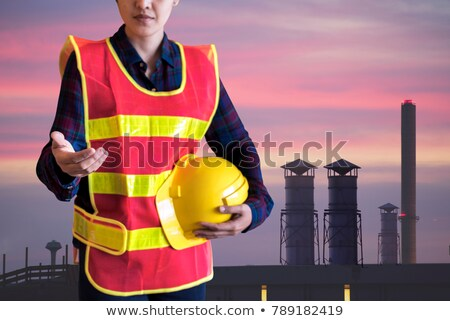 Stock photo: A business man with an open hand ready to seal a deal. Focus in