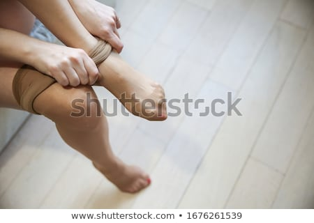 Meia-calça marrom isolado branco ninguém Foto stock © Stocksnapper