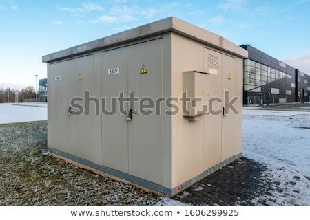 Elektromos irányítás doboz illemszabály előcsarnok zöld Stock fotó © Lekchangply
