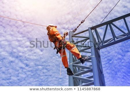 trabajador · de · la · construcción · concretas · mano · mezclador · casa · industria - foto stock © photography33