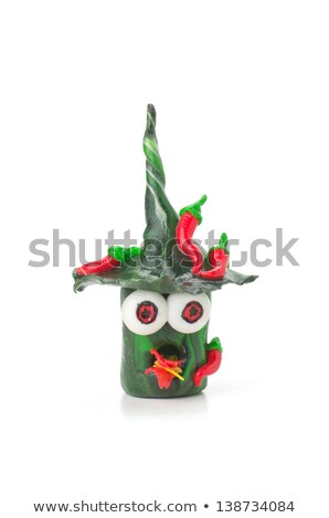 Handmade modeling clay figure with chilies Stock photo © Zerbor