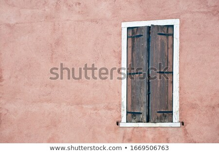 very old shutters on the window is closed stock photo © alekleks