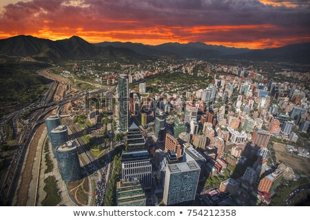 Santiago 2013 primer plano residencial edificio Foto stock © fxegs