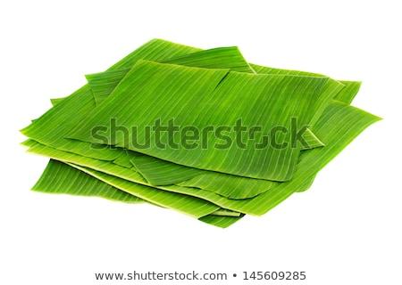banán · levél · vízcsepp · textúra · tavasz · erdő - stock fotó © inganielsen