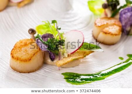 balık · sebze · tava · mutfak · fotoğraf · pişirme - stok fotoğraf © elmiko