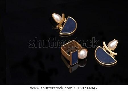brincos · jóias · caixa · vermelho · dois · isolado - foto stock © tab62