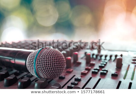 microphone and mixer stock photo © wellphoto
