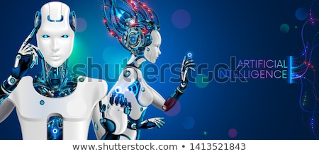 Standing android robot. Stock photo © Kirill_M