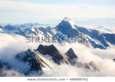 Glacial Valley Viewed From The Mountains Stok fotoğraf © vichie81