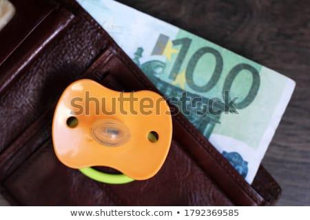 Fopspeen geld licht familie financieren euro Stockfoto © gewoldi
