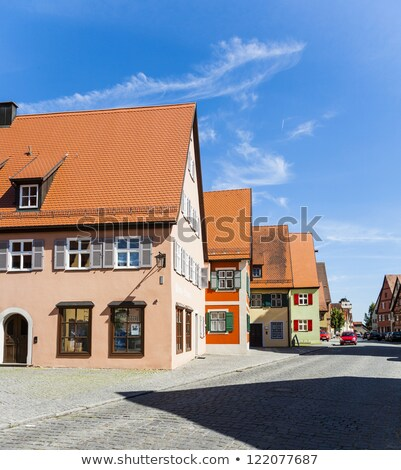 romantic Dinkelsbuehl, city of late middleages Stock photo © meinzahn