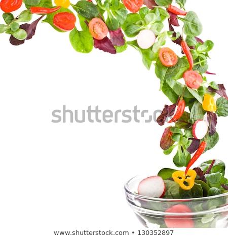 Fresh carrots over white background Stock photo © bdspn