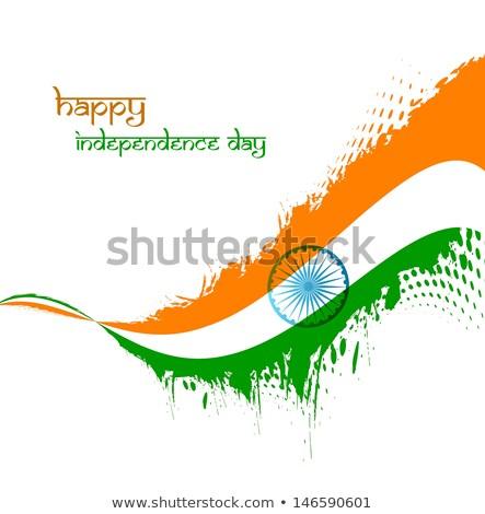 Mooie indian vlag republiek dag stijlvol Stockfoto © bharat