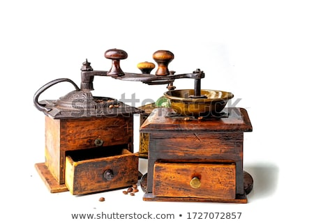 wooden coffee mill grinder stock photo © witthaya