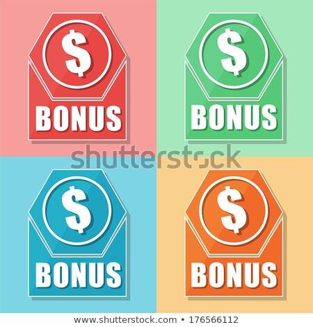 Bonus dollaro simbolo quattro colori icone web Foto d'archivio © marinini