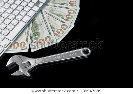 franciakulcs · kéz · izolált · fehér · üzlet · autó - stock fotó © inxti
