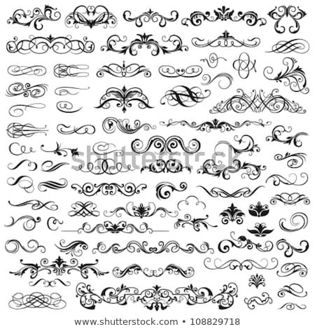 vector set: calligraphic design elements and page decorations Stock photo © Elmiko