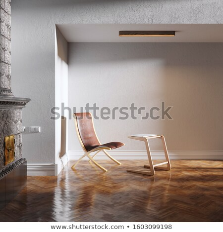 new white room with white leather chair in the sun Stock photo © vizarch