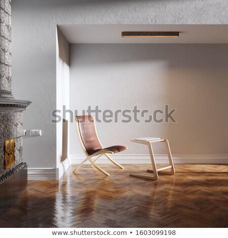 minimalista · fehér · belső · szoba · luxus · fotel - stock fotó © vizarch