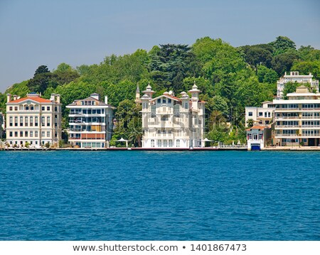 Waterfront Houses Along The Bosphorus Strait Stock photo © rognar