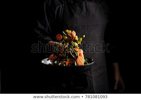 Grillés légumes wok table alimentaire Photo stock © tannjuska