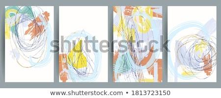 pastel · líneas · tiza · escuela · nino - foto stock © janaka